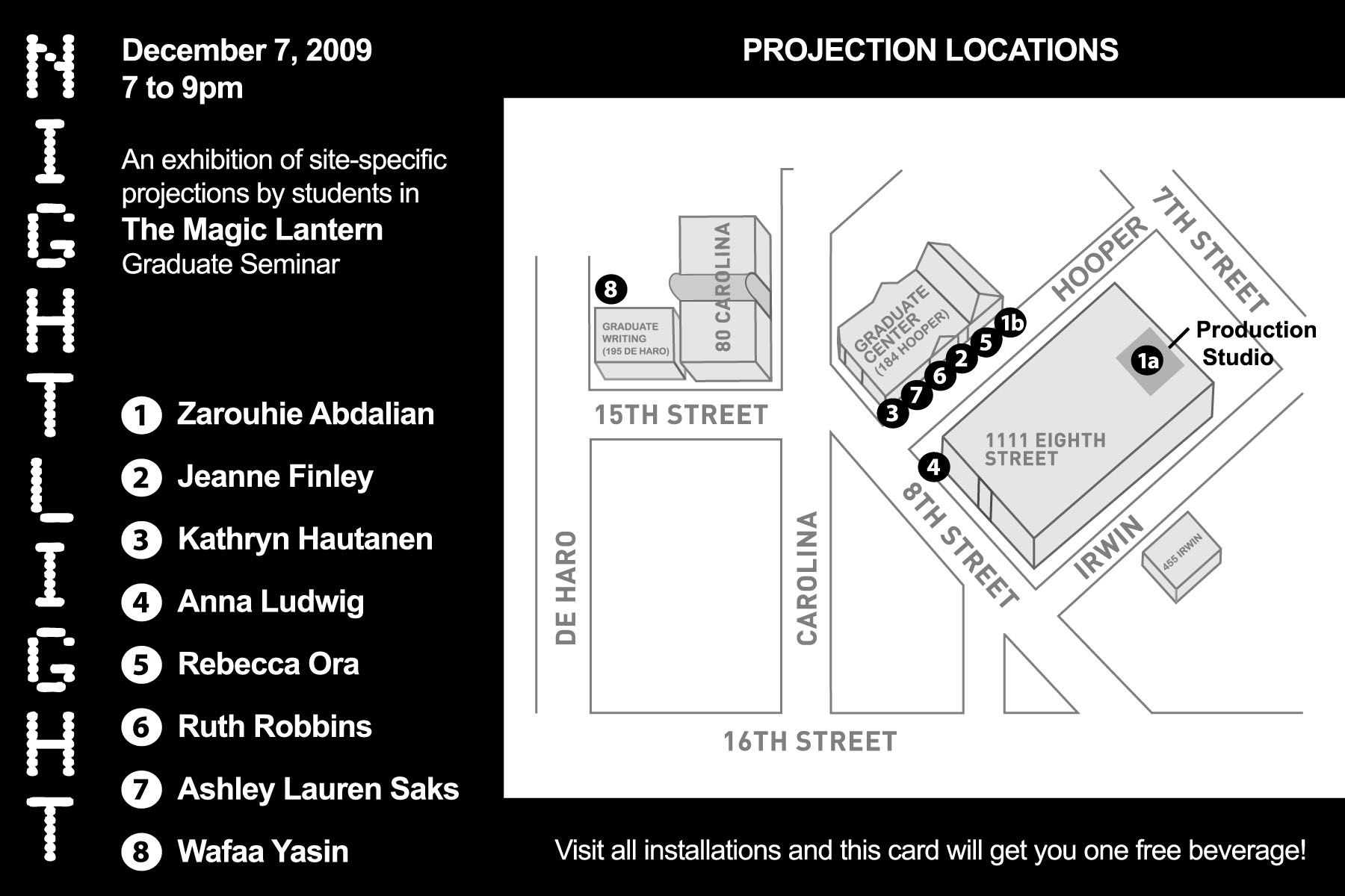 Cca Sf Campus Map.Nightlight An Exhibition Of Site Specific Projections Finley Muse