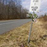Roadside Memorial for Anonymous (DUI 1 Killed Here)