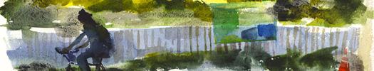 Laurie Wigham, Falsework, Watercolors